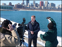 Stephen Sackur in Chicago