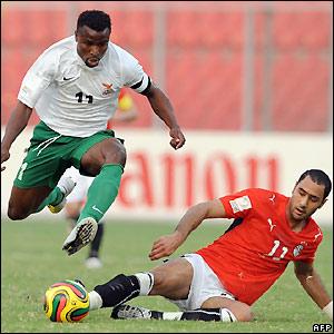 Chris Katongo hurdles Mohamed Shawky's challenge