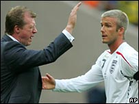 Steve McClaren and David Beckham
