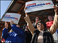 Edwards supporters in Dublin, Georgia, 27 Jan 2008