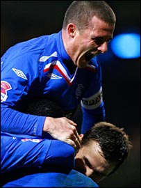 Ferguson celebrates Rangers' victory