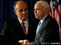 Rudy Giuliani endorses John McCain in Simi Valley, California