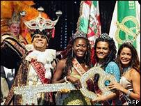 Rei Momo, or Carnival King, Rio de Janeiro, 29 Jan 2008