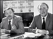 Ken Livingstone and Neil Kinnock in 1984
