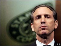 Starbucks chairman and chief executive Howard Schultz