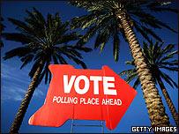 Cartel llamando a votar