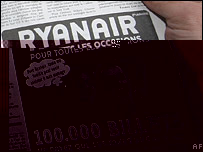 Ad featuring Nicolas Sarkozy and Carla Bruni in Le Parisien, 28-01-2008