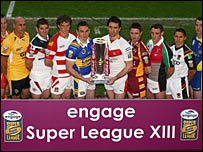 The 12 Super League teams pose for the camera prior to the new campaign