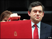 Gordon Brown before delivering his first budget