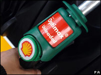 A Shell petrol pump