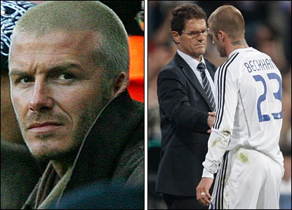 It is not the first time Beckham has been dropped by Capello