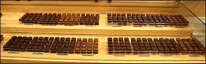 Muestra en museo de chocolate de Barcelona