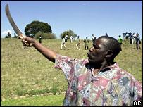 Man with a machete near Nairobi