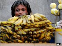 A vendor in Kumasi