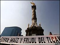 Protestas contra el TLCAN