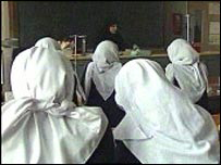 girls in classroom