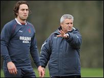 Wales captain Ryan Jones (left) and new coach Warren Gatland
