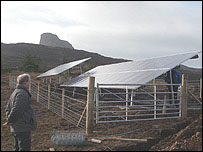 Solar panels on Eigg
