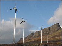 Wind turbine on Eigg