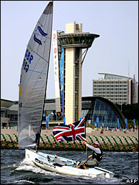 Ben Ainslie sailing off Qingdao in 2007