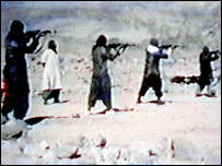 A video grab dated 19 June 2001 shows members of al-Qaeda training