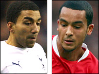 Aaron Lennon and Theo Walcott