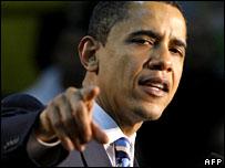 Barack Obama campaigns in Kansas, Jan 2008