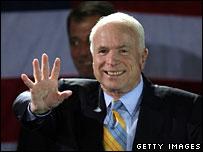 John McCain at his election night rally in Florida, 29 Jan 2008