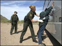 The man was arrested by the US Border Patrol in Texas (Picture courtesy of the US Border Patrol )