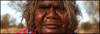 Aboriginals by Uluru (Ayers Rock) in Australia