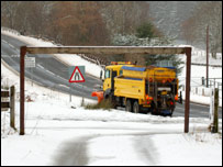 Snow plough on the A85 [Pic: Jim Conlin]