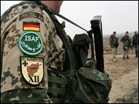 German Nato soldier in Afghanistan - photo February 2007
