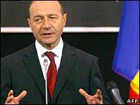 Romanian President Traian Basescu