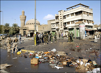 Ghazil market after Friday's bombing