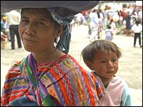 Womana and child in Guatemala (file photo)
