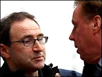 Martin O'Neill (left) and Harry Redknapp