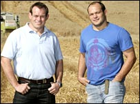 Simon and Rory Best at home on their farm in Co Armagh
