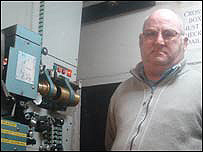 Projectionist Merfyn Eccleston