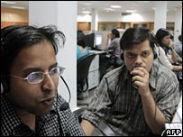 Indian call centre workers