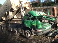Lorry at crash