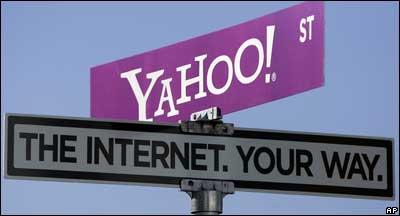 Yahoo sign, AP