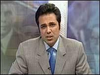 Talat Hussein of Aaj TV