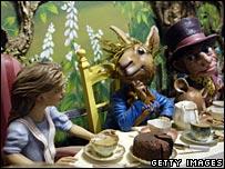 Alice in Wonderland scene at Fortnum and Mason