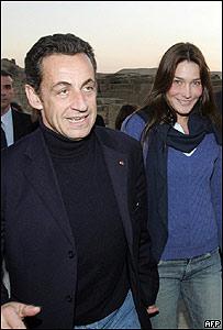 Carla Bruni y Nicolas Sarkozy