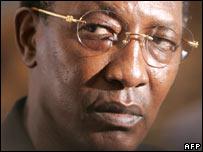 Chadian President Idriss Deby (file pic)