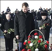 Dmitri Medvedev in Volgograd on 2 February 2008