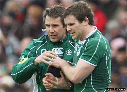 Gordon D'arcy's game ends