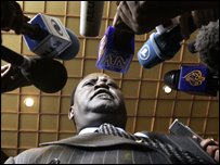 Raila Odinga after talks on Friday