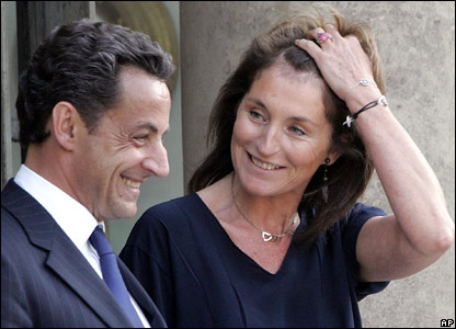 Nicolas Sarkozy and his ex-wife Cecilia at the Elysee Palace in Paris. June 5, 2007