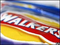 Walkers crisp packet